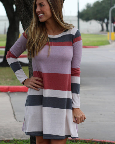 Rori Striped Sweater Dress