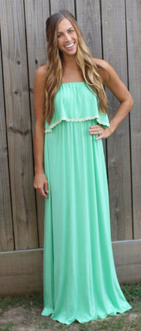 Carrie Ann Maxi - Green Apple