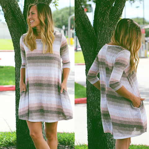 Helen Striped Tunic Dress