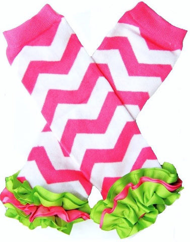 Strawberry Kiwi Chevron Leg Warmers