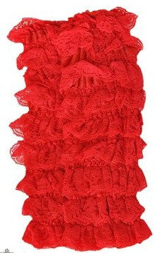 Red Lace Leg Warmers