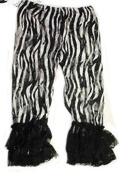 Zebra Lace Tights
