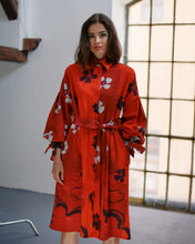 Load image into Gallery viewer, FLOWER SHIRT DRESS TRK COS