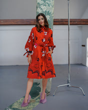 Load image into Gallery viewer, FLOWER SHIRT DRESS