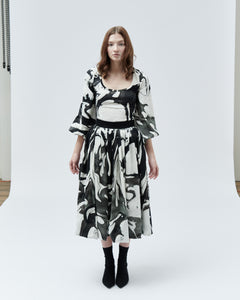 TULIP SKIRT, black marble - rent