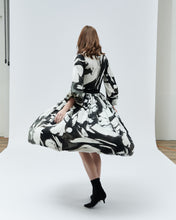 Load image into Gallery viewer, TULIP SKIRT, black marble