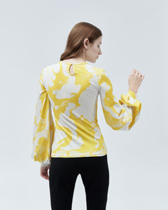 ELISKA TOP, yellow marble