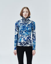Load image into Gallery viewer, NARCISSUS HIGH-NECK TOP, blue universe