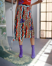 Load image into Gallery viewer, DOUBLE WAVE WRAP SKIRT