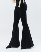Load image into Gallery viewer, PETUNIA BELL TROUSERS, black
