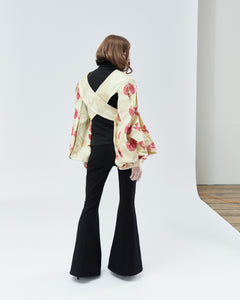 VEST ELIZABETH EMBROIDERY WITH SLEEVES, marble - rent
