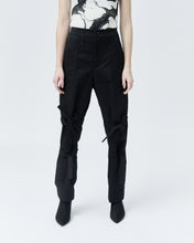 Load image into Gallery viewer, BETTY TAILORED TROUSERS WITH BOWS, black