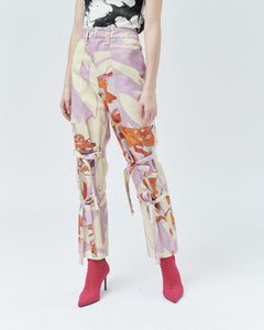 ROSALIA TAILORED TROUSERS WITH BOWS, marhmello