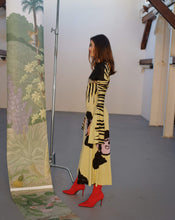 Load image into Gallery viewer, MONKEY WAVE KNITTED DRESS WITH COLLAR TRK COS