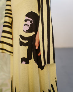 MONKEY DRESS ALL YELLOW TRK COS