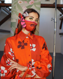 FLOWER MASK WITH BOW TRK COS