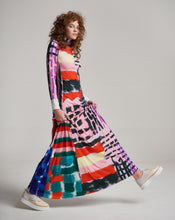 Load image into Gallery viewer, PATCHWORK LILA LONG DRESS