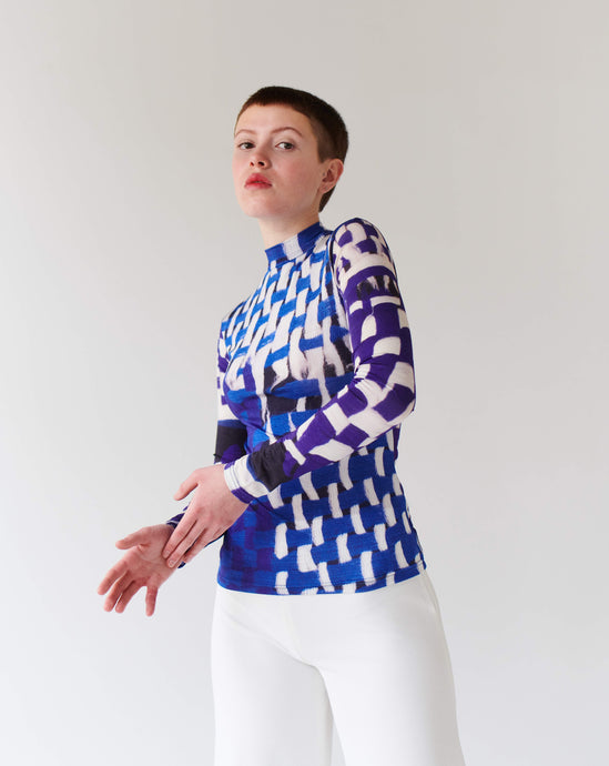TOP BLUE, long sleeve TRK FUN COLLECTION