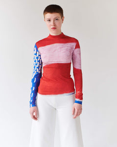 TOP PINK, long sleeve TRK FUN COLLECTION