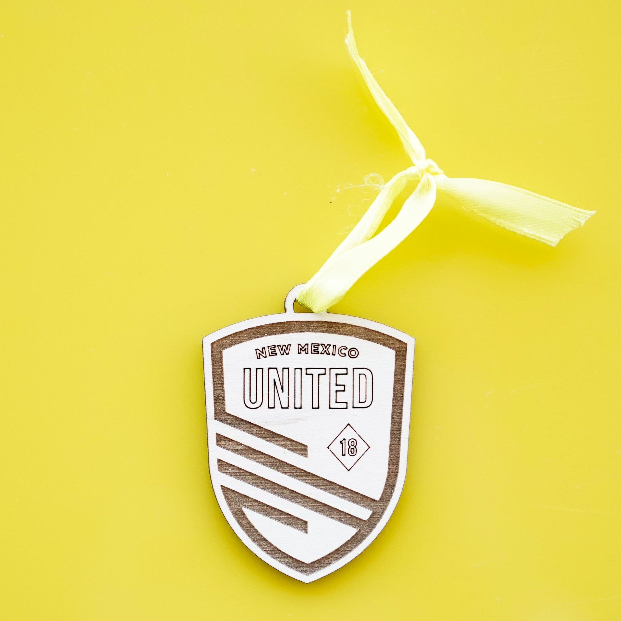 New Mexico United Shield Maple Ornament