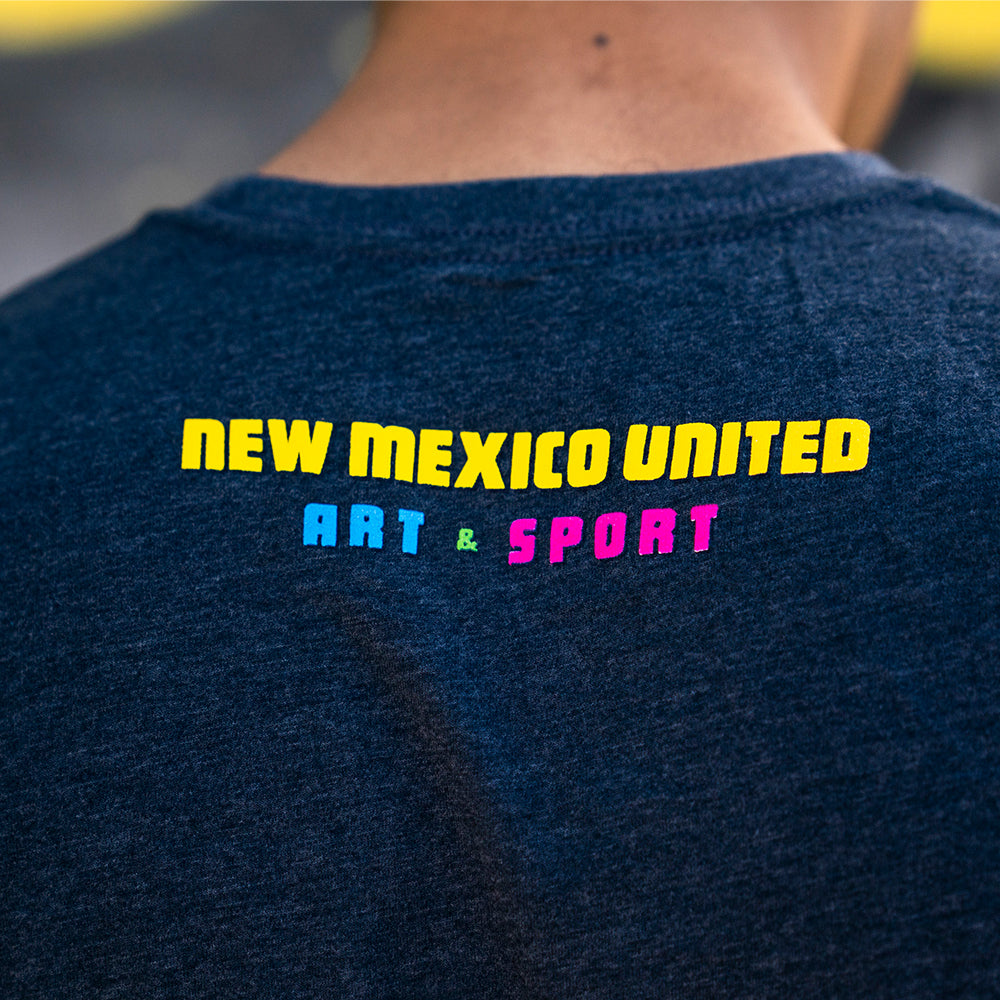 New Mexico United Abstract Player Tee - Navy