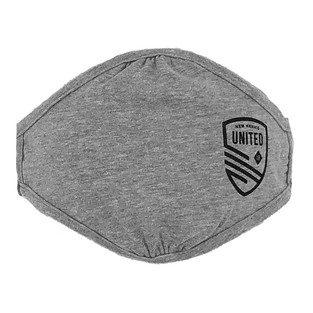 New Mexico United Cutout Shield Adult Face Covering - Grey