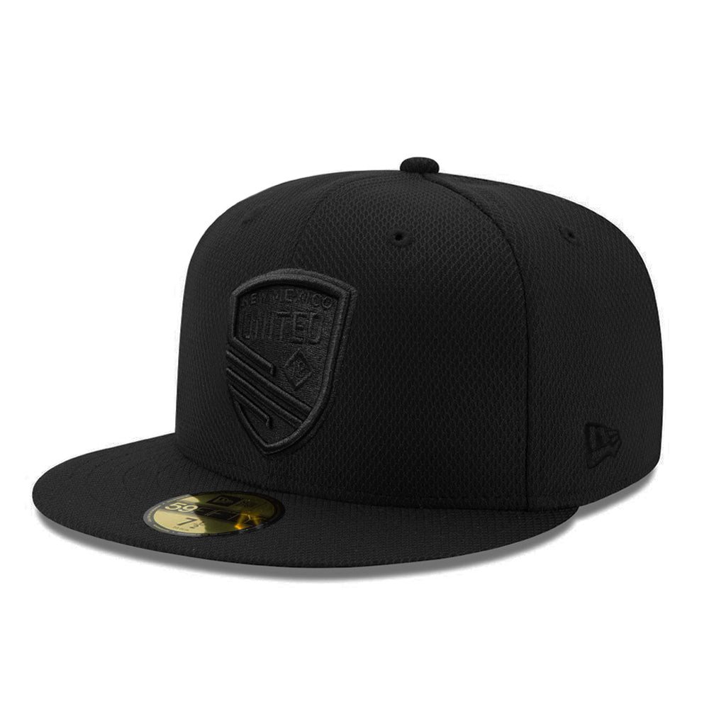 New Mexico United New Era Black on Black Shield Diamond Era 59FIFTY - Black