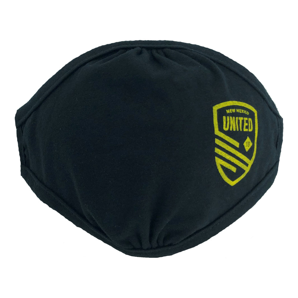 New Mexico United Cutout Shield Adult Face Covering - Black