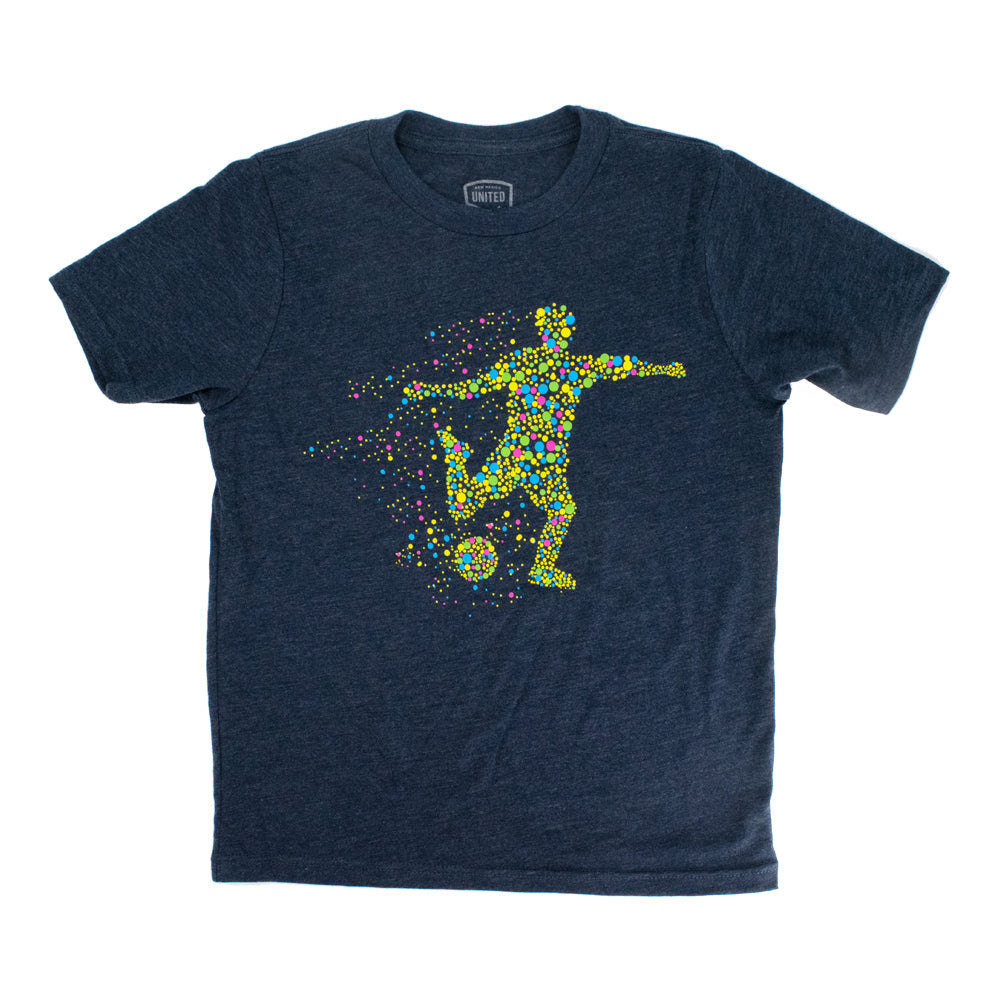 New Mexico United Youth Abstract Player Tee - Navy
