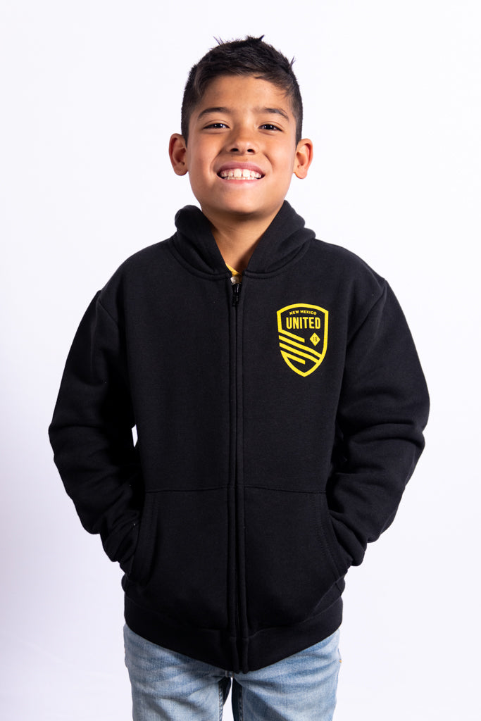 New Mexico United Youth Cutout Shield Full Zip Hoodie