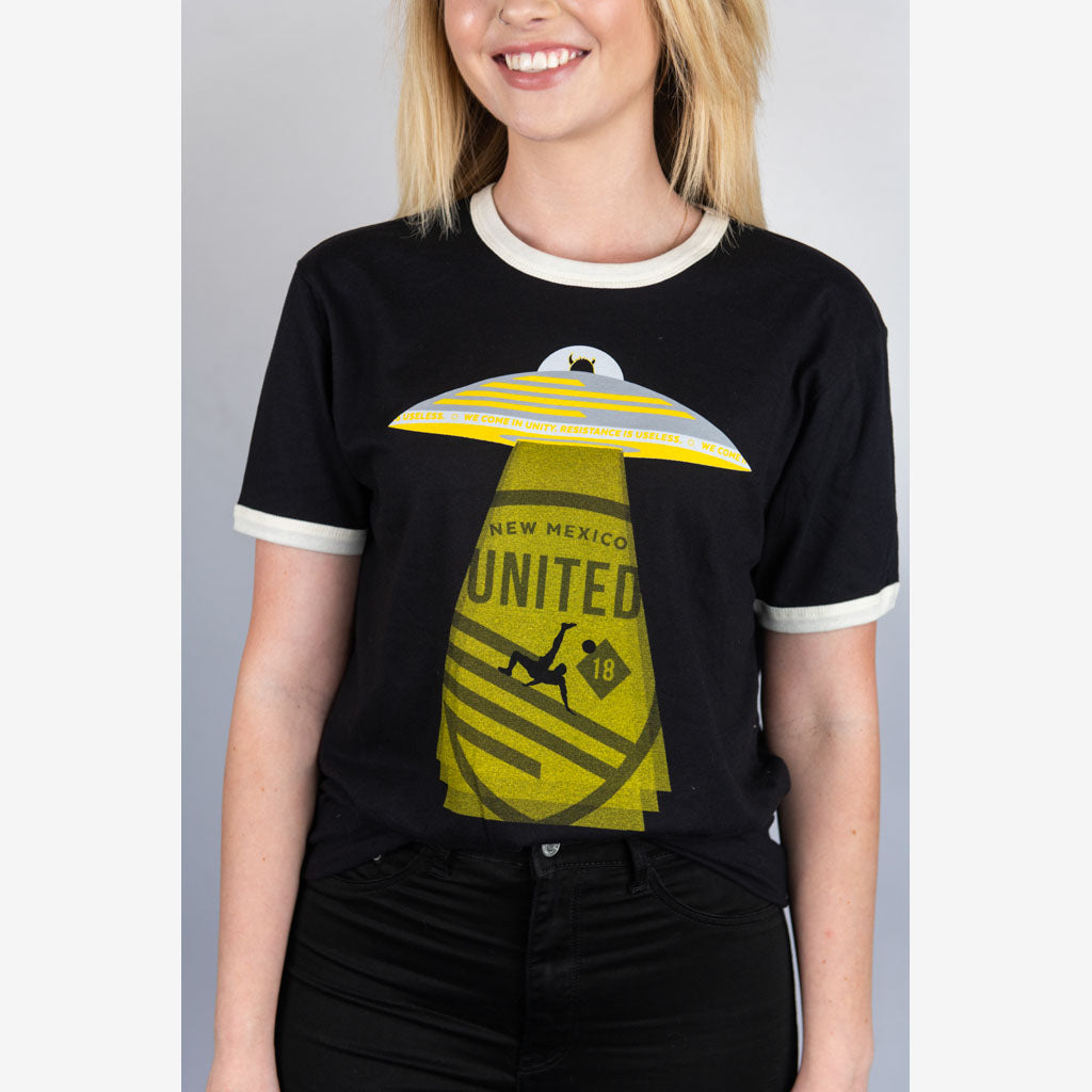 New Mexico United UFO Ringer Tee