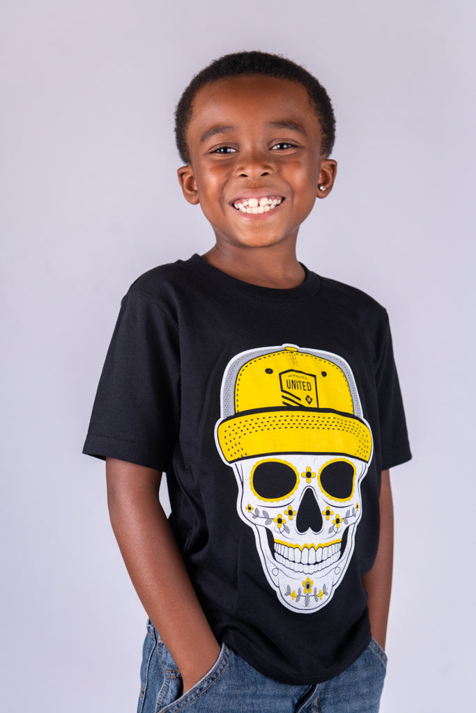 Youth Skull Snapback T-Shirt