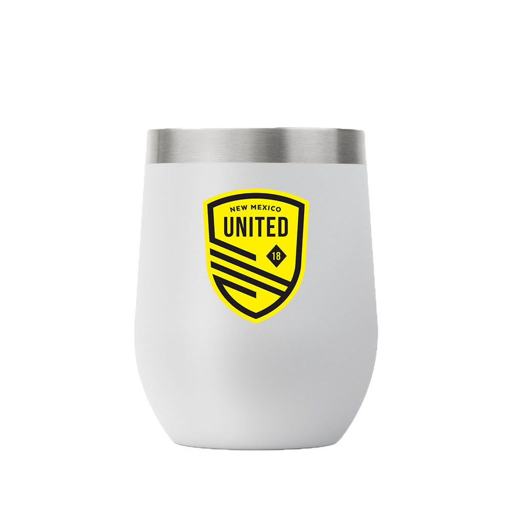 New Mexico United Gametime Sidekicks 12oz. Wine Glass - White