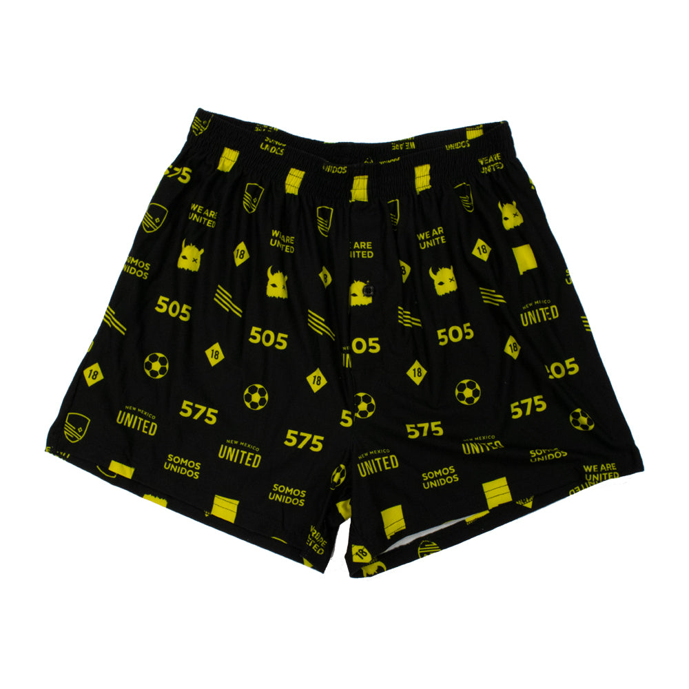 New Mexico United College Concepts All Over Boxers - Black