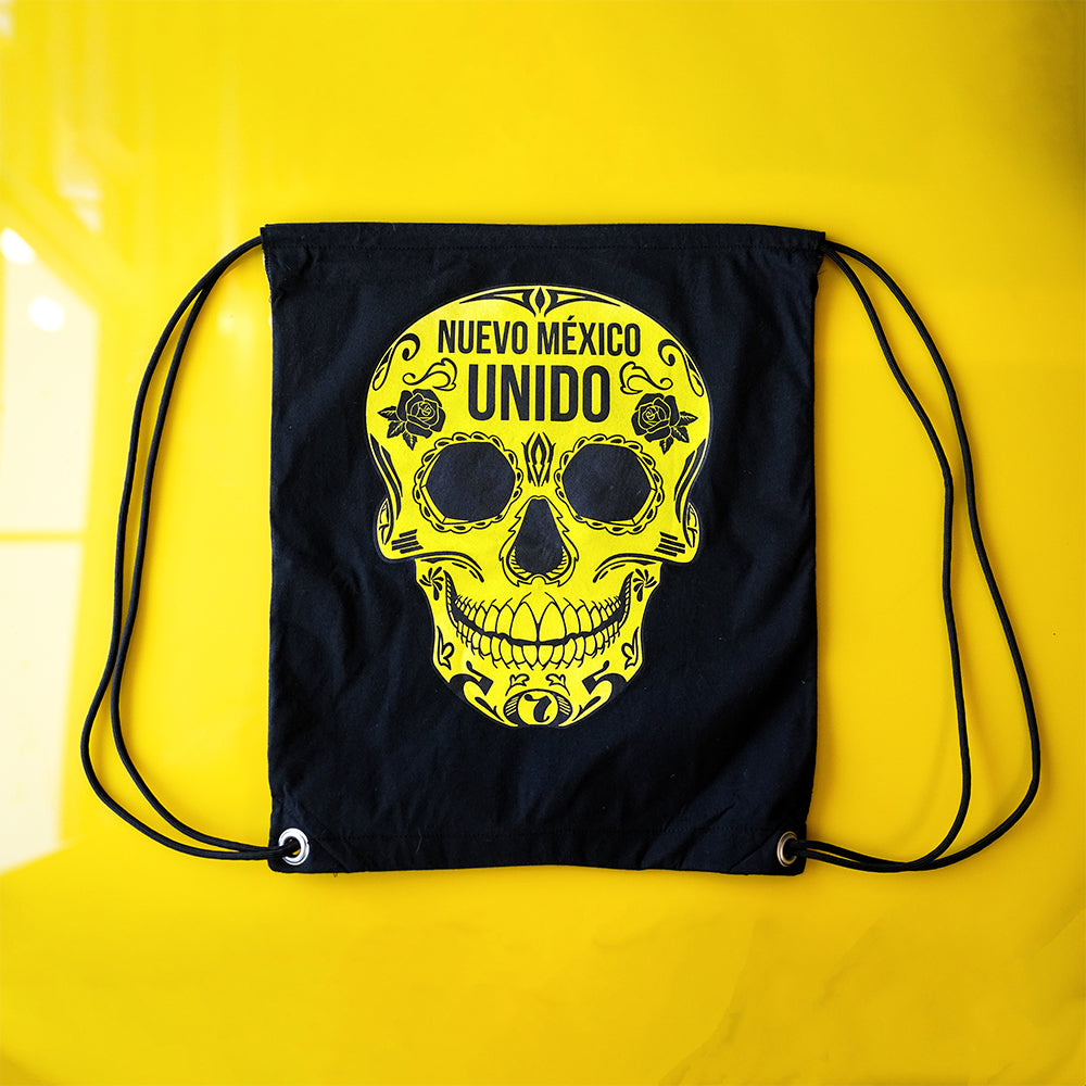 New Mexico United Cinco Drawstring Bag - Black