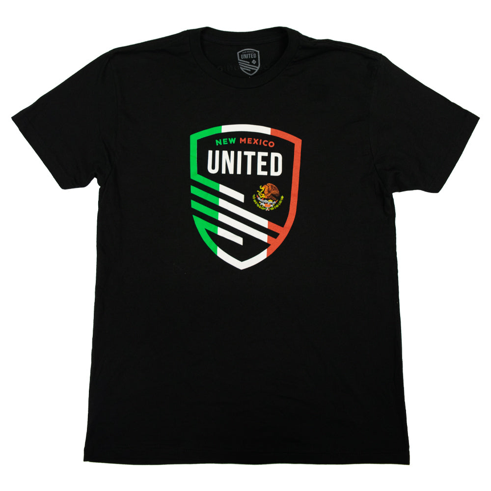 New Mexico United Unisex Mexican Flag Shield Tee