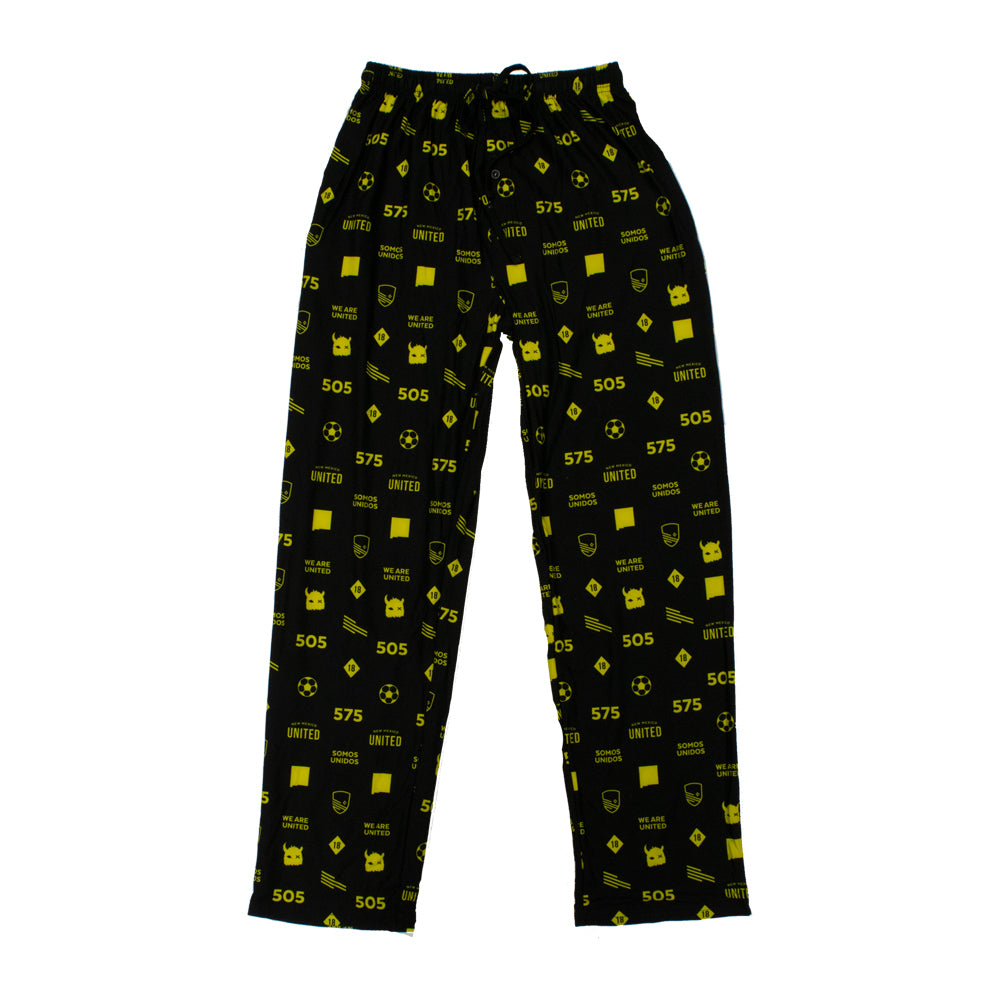 New Mexico United College Concepts All Over PJ Pants - Black