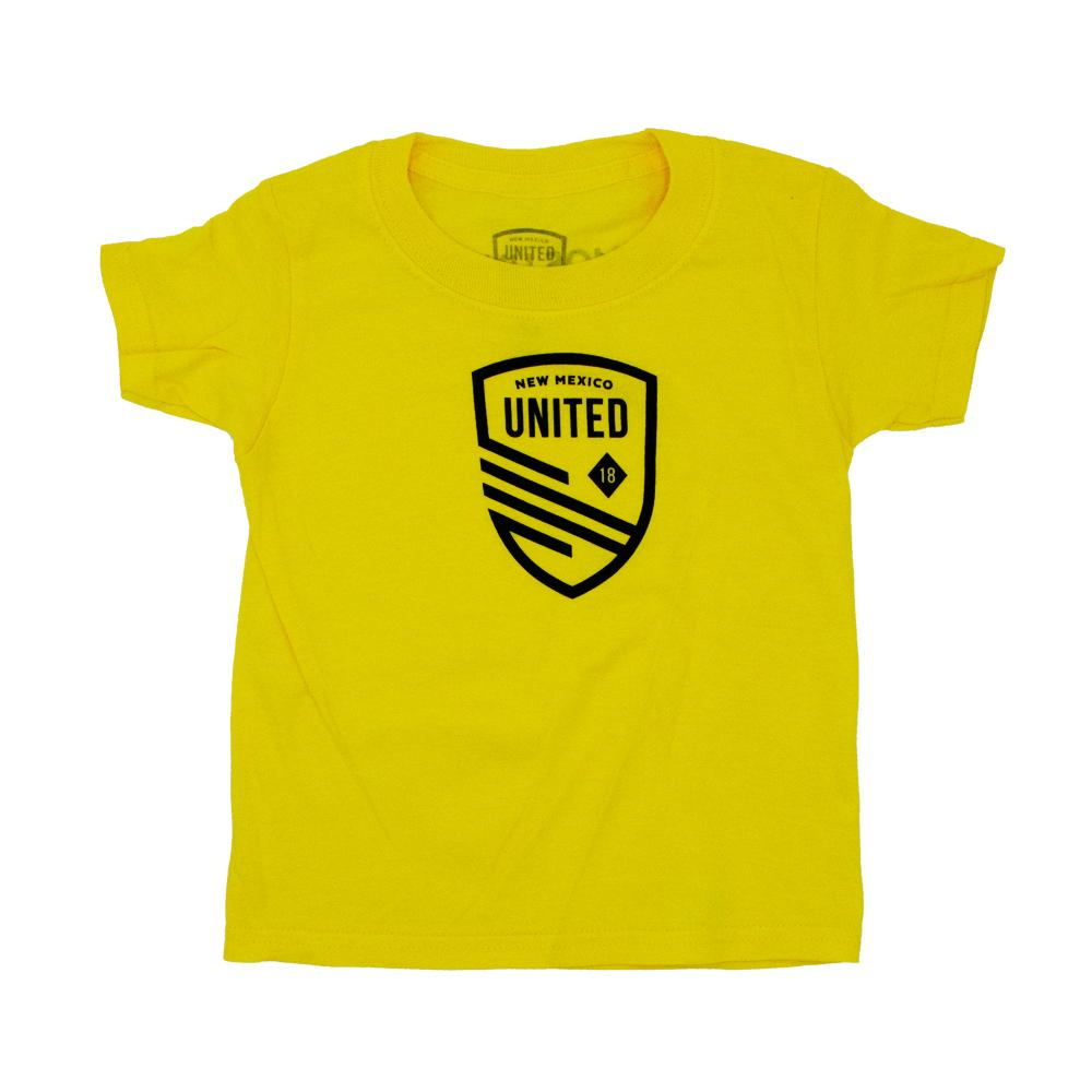 New Mexico United Youth Cutout Shield Tee - Yellow