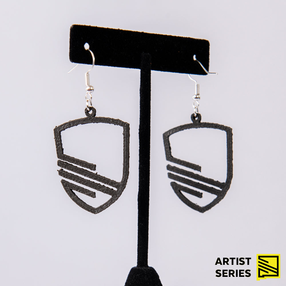 New Mexico United Cut Out Shield Earrings