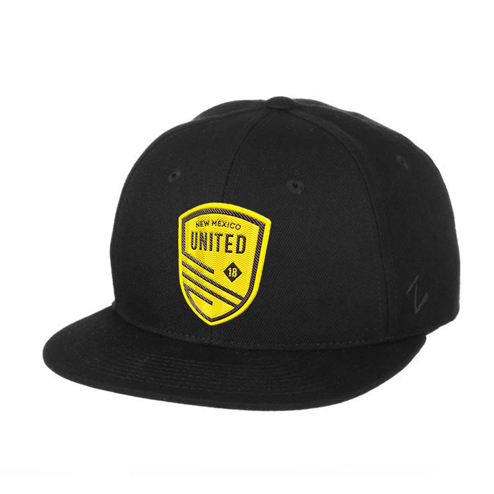 New Mexico United Shield Patch Z11 Snapback Hat