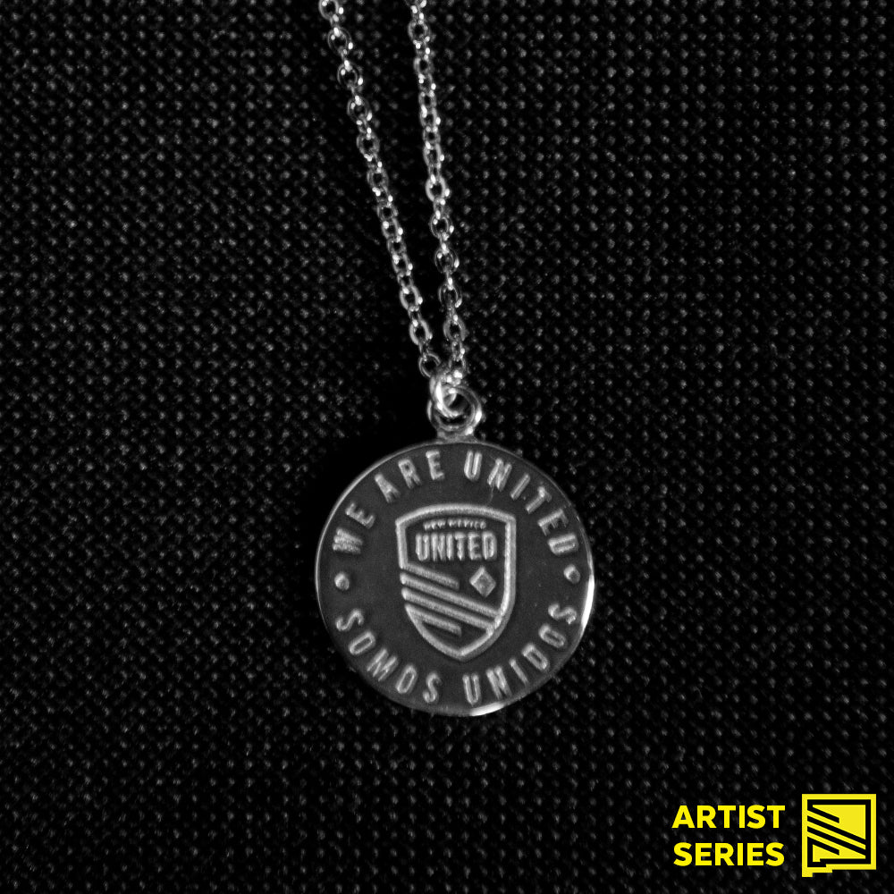 New Mexico United Badge Pendant Necklace