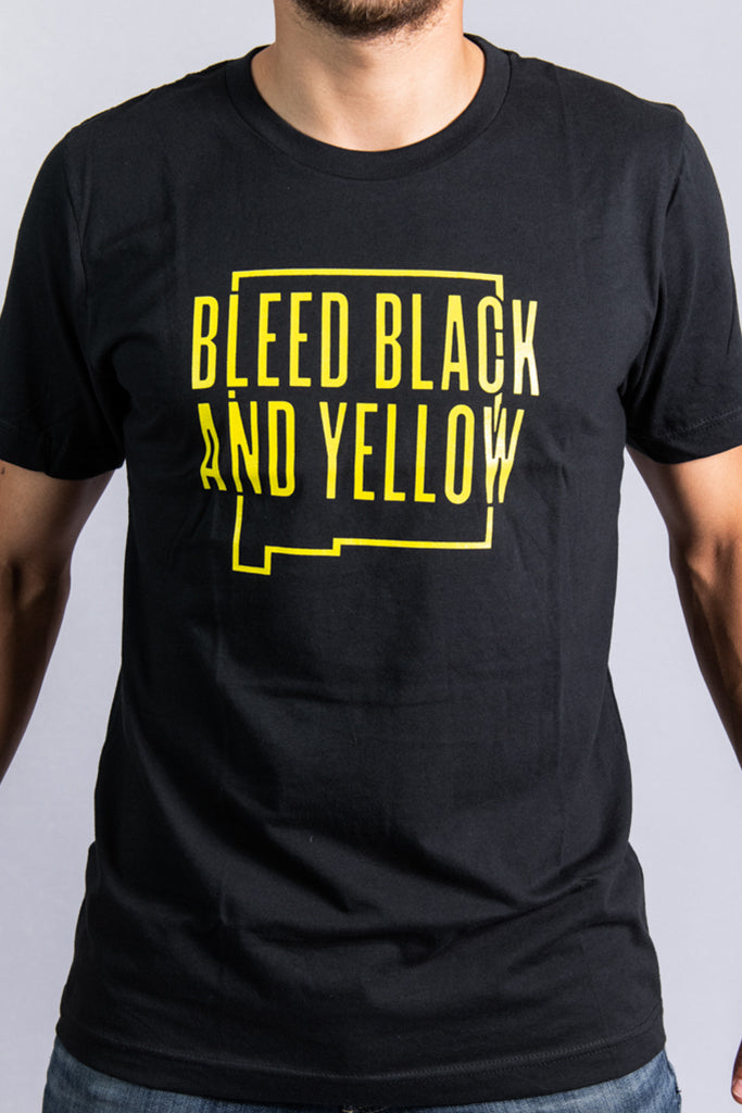 Bleed Black and Yellow Unisex T-Shirt