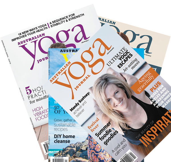 Buy a one-year subscription to Australian Yoga Journal and receive a $50 Gift Card from Yogi Peace Club. One Year subscription $69.