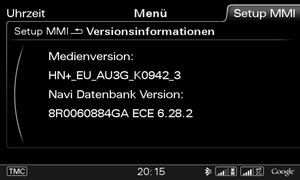 MMI 3G High HNav & 3G Plus HN Plus MAPS 6.28.2