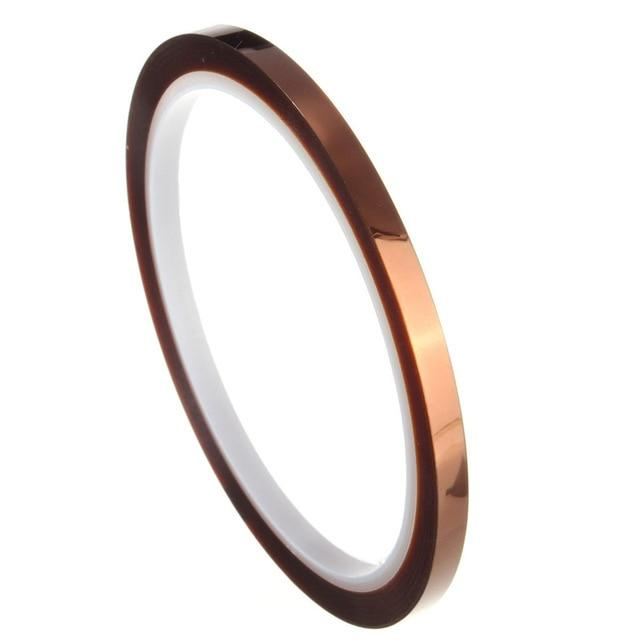 High-quality 5mm 100ft Tape High Temperature Heat Resistant Polyimide New