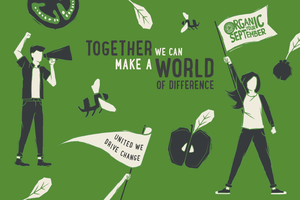 Organic September banner: Together we can make a world of difference.