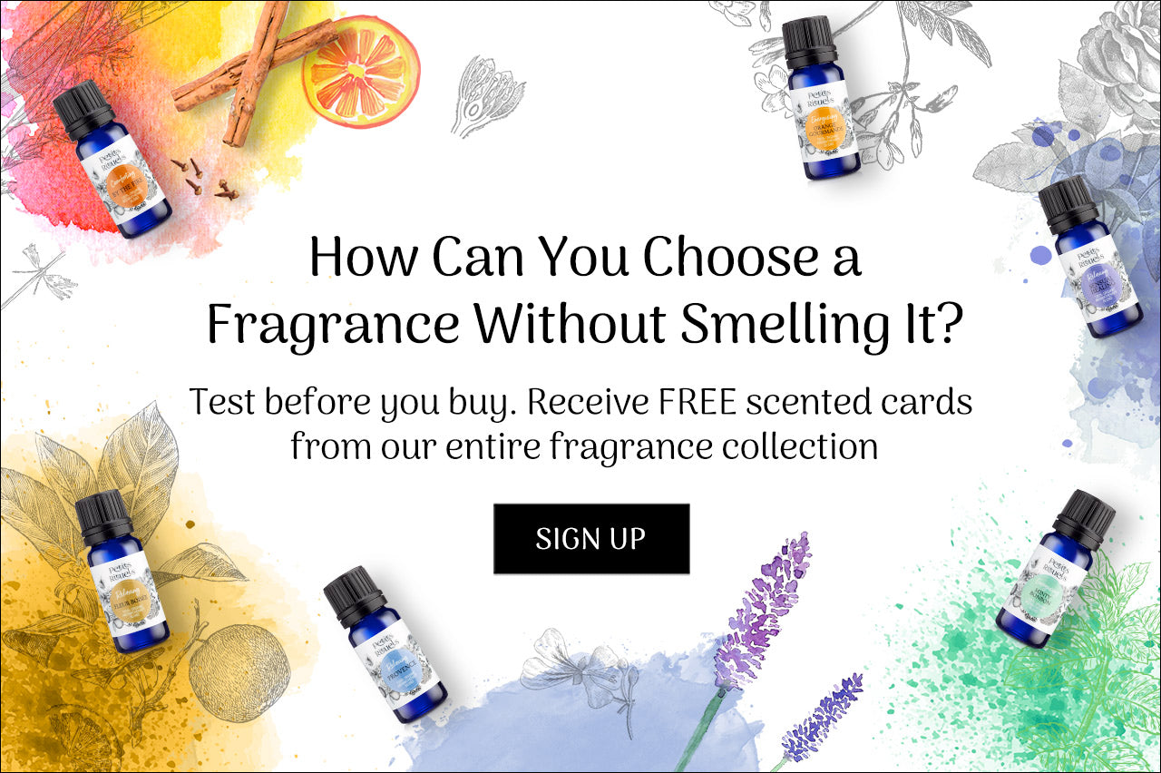 Sign up to receive free scented cards from Petits Rituels entire home fragrance collection.