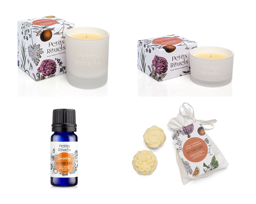 Petits Rituels By The Fire home fragrance collection.