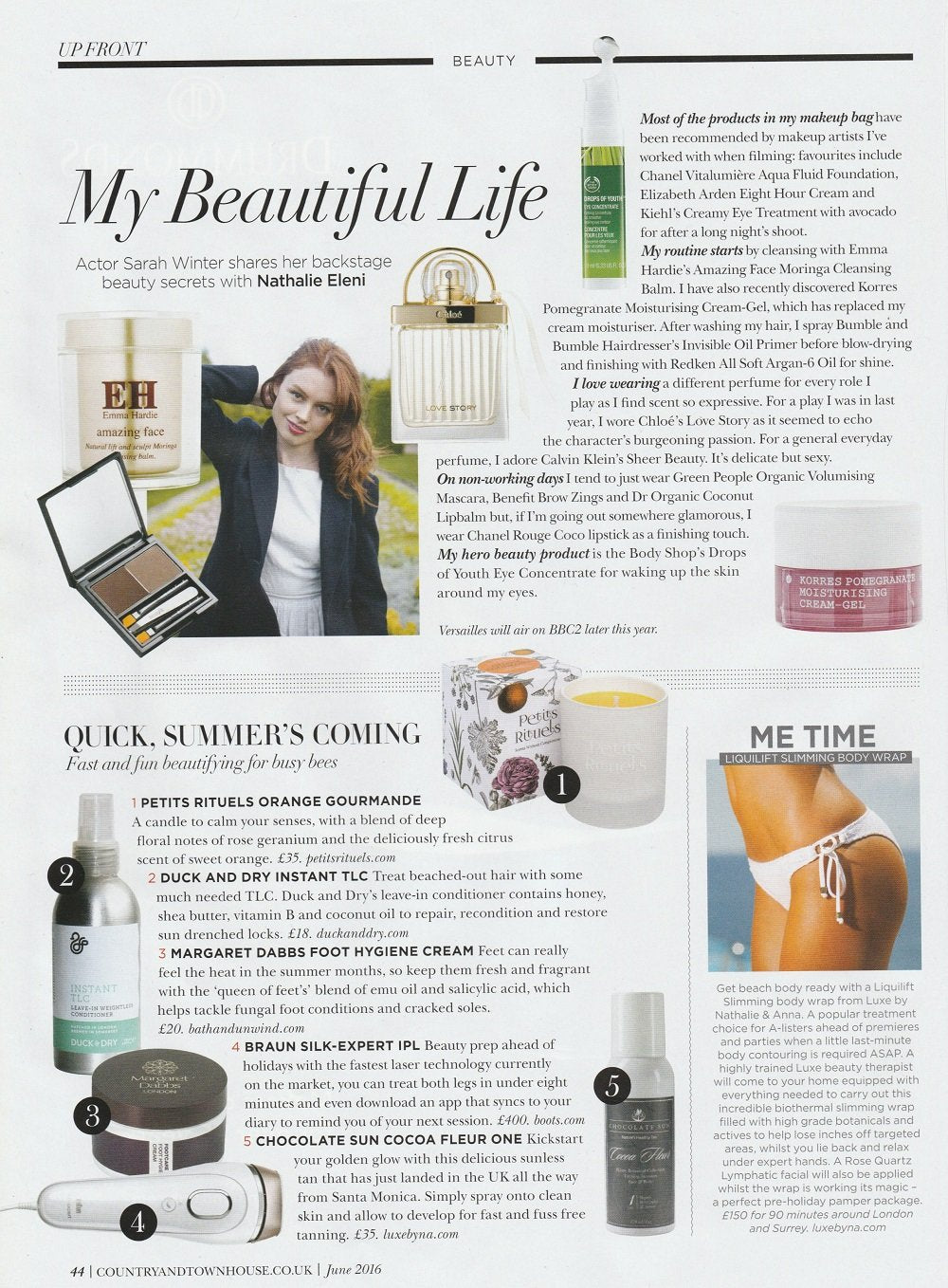 Town & Country house feature of the Orange Gourmande candle.