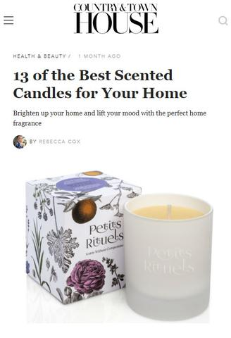 Town and Country House featuring Sensual Healing candle.